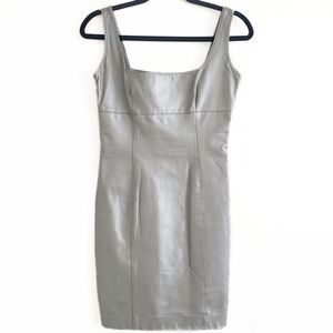 Danier genuine leather dress silver size XS